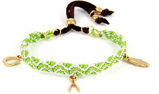 Ettika Trio Charm Bracelet in Multicolor Green