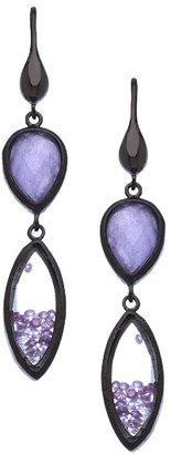Urban Posh Periwinkle Jade Marquise Stardust Shaker Earrings