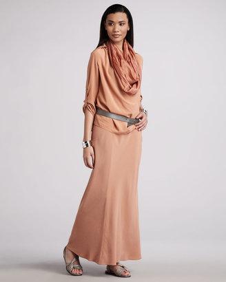 Eileen Fisher Draped Silk Blouse, Petite