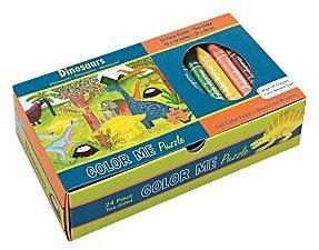Mudpuppy Dinosaurs Color Me Puzzle (24 pc)