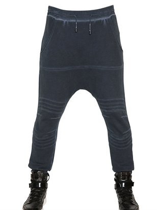 Balmain Washed Cotton Fleece Low Crotch Trousers
