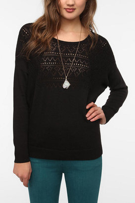Urban Outfitters Pins and Needles Pointelle Dolman Sweater