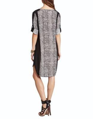 BCBGMAXAZRIA Paige Pleated-Center Dress