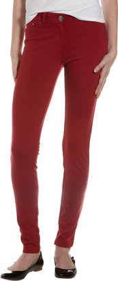 Romeo & Juliet Couture Five-Pocket Ponte Stretch Pants, Wine