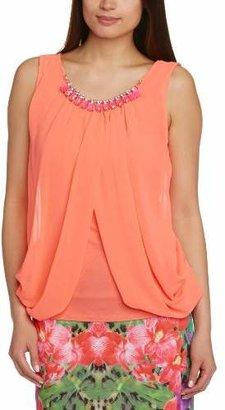 Lipsy Women's Beaded Drape Dront Sleeveless Blouse,Size 8