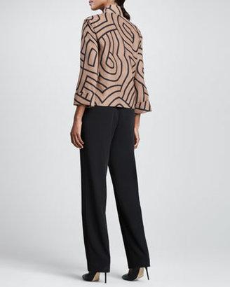 Caroline Rose Graphic Suede Boxy Jacket, Women's