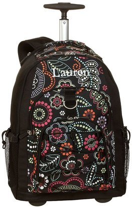 PBteen 4504 Gear-Up Light Bright Floral Rolling Backpack
