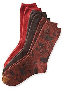 Gold Toe 3-pk. Floral Scroll Fashion Crew Socks