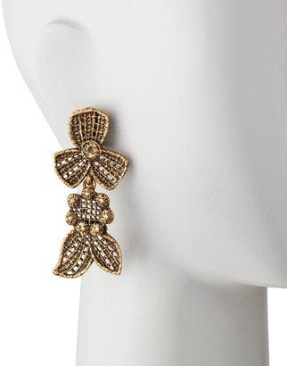 Oscar de la Renta Cast Lace Clip Earrings