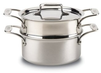 All-Clad 3-qt. Stainless Steel D5 Brushed Casserole with Steamer