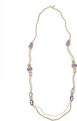 Amethyst & Topaz Illusion Necklace $268 thestylecure.com