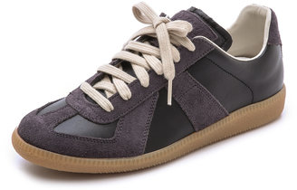 Maison Margiela Leather & Suede Sneakers $475 thestylecure.com
