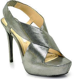 Diane von Furstenberg Zia II - Silver Metallic Leather Platform