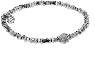 Michael Kors Silver-Color Stretch Bracelet with Pave Fireball