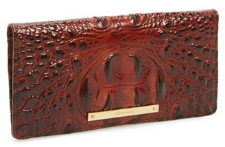 Women's Brahmin 'Ady' Croc Embossed Continental Wallet - Brown $95 thestylecure.com