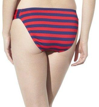 Mossimo Women's Mix and Match Stripe Hipster Swim Bottom -Poppy Red