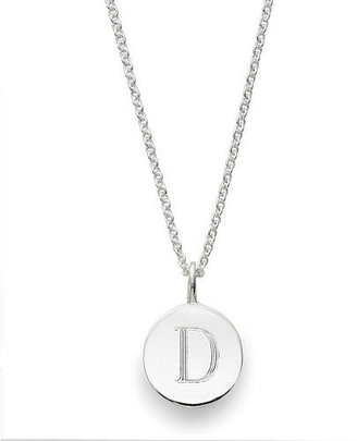 Sarah Chloe Sterling Silver Engraved D on 16 inch Cable Chain