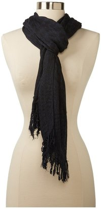 John Varvatos Collection - Oversize Houndstooth Scarf (Ink) - Accessories