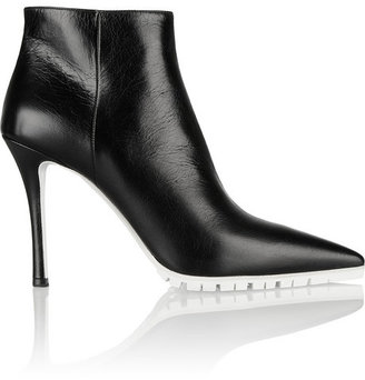 Miu Miu Textured-leather ankle boots
