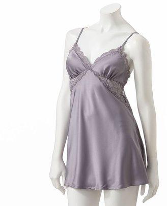 JLO by Jennifer Lopez timeless glamour satin babydoll chemise & bikini panty set