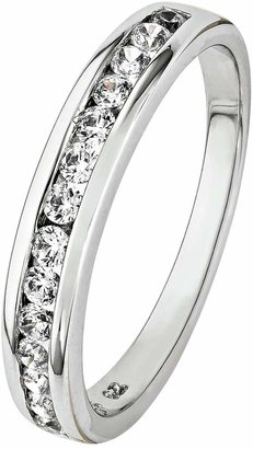 Revere Sterling Silver Cubic Zirconia Eternity Ring