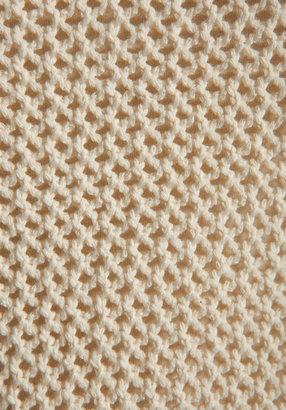 Maison Scotch 2 in 1 Mesh Long Sleeve Sweater