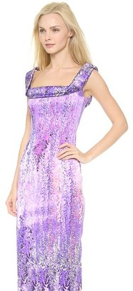 L'Wren Scott Fold Over Neckline Dress