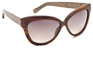 Linda Farrow Luxe Leather Sunglasses