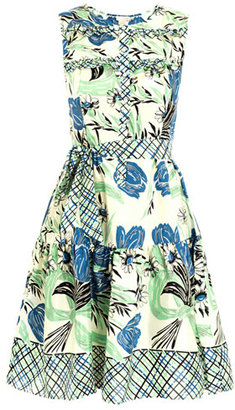 Collette Dinnigan Collette by Wave rider print dress