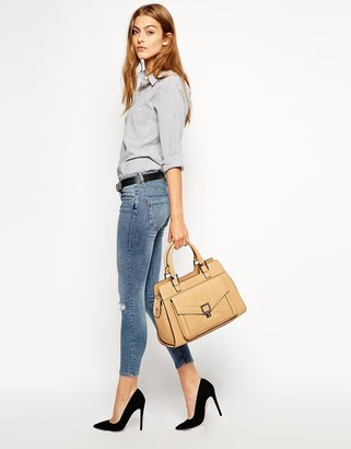 French Connection Leather Tote Bag