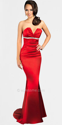 Atria Size S Satin Strapless Evening Dresses