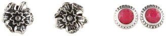 Lucky Brand Flower Stud Set (Silver) - Jewelry