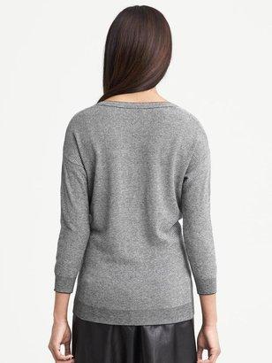 Banana Republic Textured V-Neck Pullover