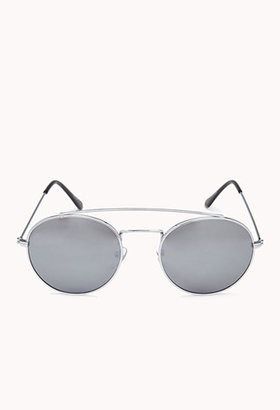 Forever 21 F5669 Reflective Round Sunglasses
