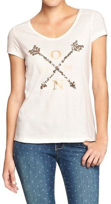 Old Navy Women's Sequined Graphic Tees