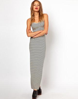 American Apparel Stripe Spaghetti Maxi Dress