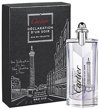 Cartier Declaration d'un Soir Eau de Toilette Limited-Edition d'Amour/3.3 oz.