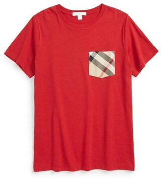 Boy's Burberry Contrast Pocket T-Shirt $75 thestylecure.com