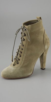 IRO Lula Lace Up Suede Booties