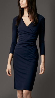 Burberry Ruched Crossover Dress