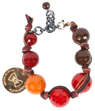 Alexis Mabille Red Glass Beaded Bracelet
