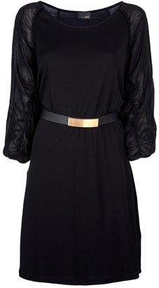 Fendi semi-sheer belted dress