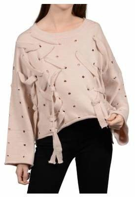 Molly Bracken Lili Sidonio Distressed Oversized Sweater