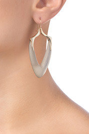 Alexis Bittar Durban Arrowhead Earring in Warm Grey