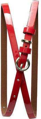 Banana Republic Patent skinny belt