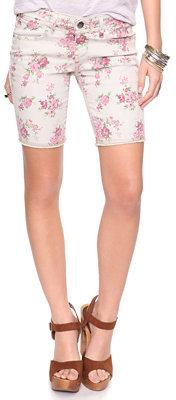 Forever 21 Divine Rights of Denim Floral Bermuda Shorts