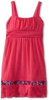 Ruby Rox Big Girls' Caviar Sheer Matte Jersey Dress