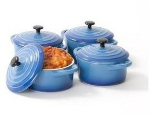 Vue Mini Cocotte 4pk Graduated Blue