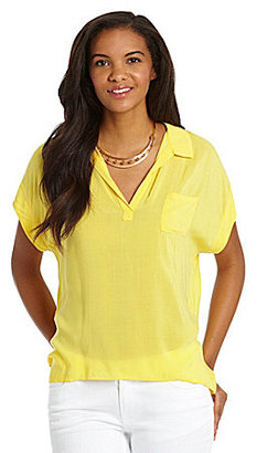 Vince Camuto TWO by Splitneck Tee