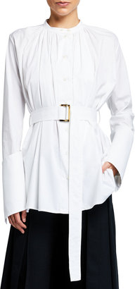 Palmer Harding Aurita Gathered Poplin Belted Shirt
